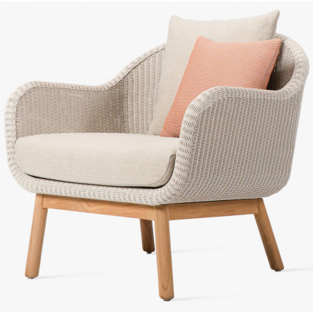 Vincent Sheppard Anton Outdoor Lounge Chair Teak Base