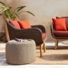 Vincent Sheppard Anton Lounge Chair Teak Base Savane Fabric