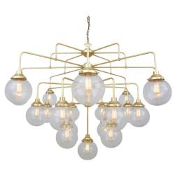 Mullan Lighting Rome Mid-Century Four-Tier Globe Chandelier 21-Light