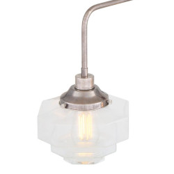Mullan Lighting Siena Art Deco Single Tier Brass Chandelier 5-Light