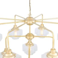 Mullan Lighting Siena Art Deco Three-Tier Brass Chandelier 13-Light