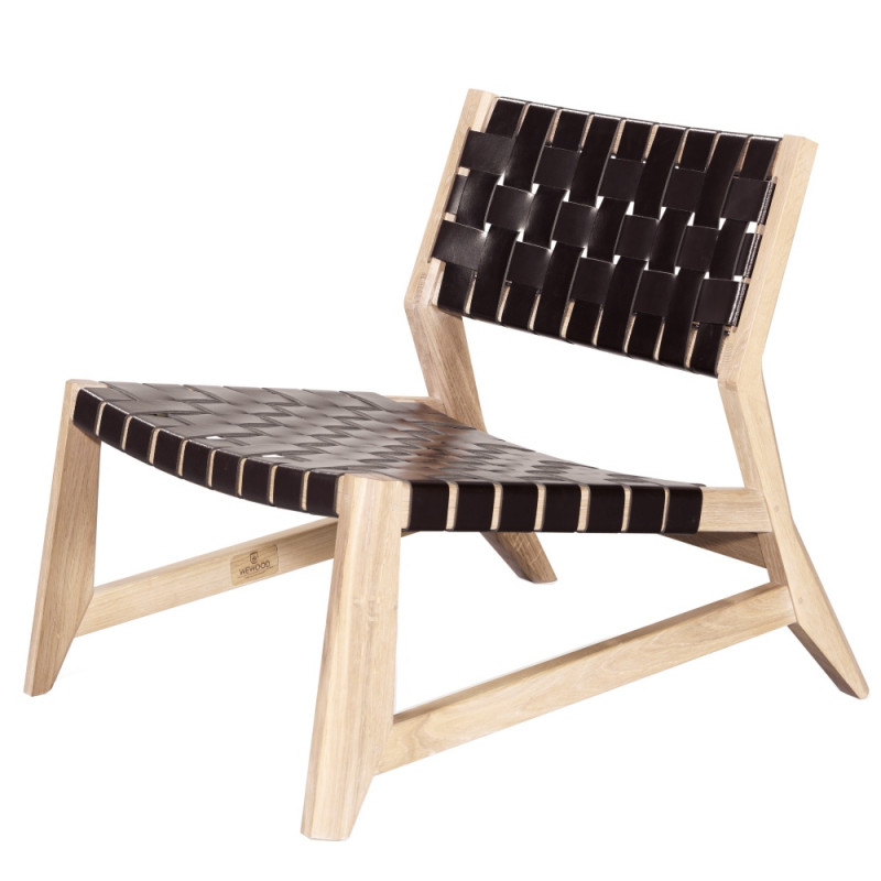 Wewood Odhin Lounge Chair with Oak Or Walnut Frame