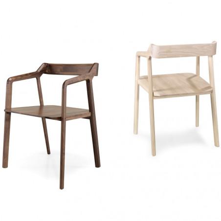 Wewood Kundera Armchair with Oak Or Walnut Frame