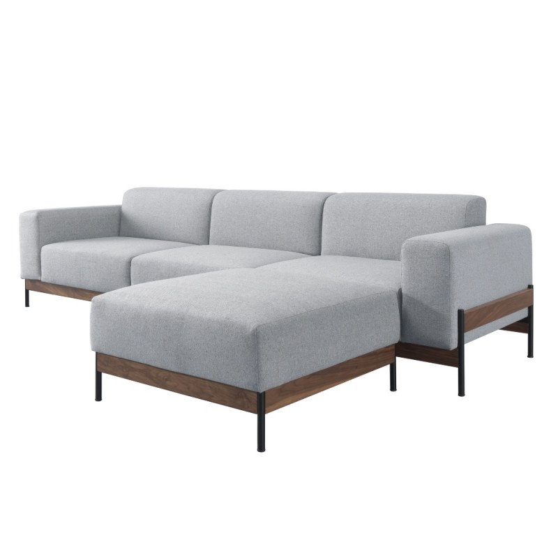 Wewood Bowie 3 Seater Sofa With Oak or Walnut Frame