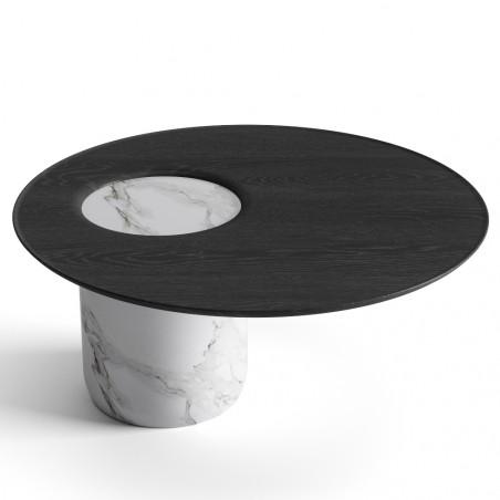 Wewood Lago Coffee Table Black Oak Marble