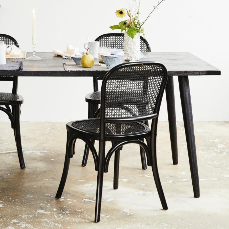 Nordal Hau Dining Table Black Wood