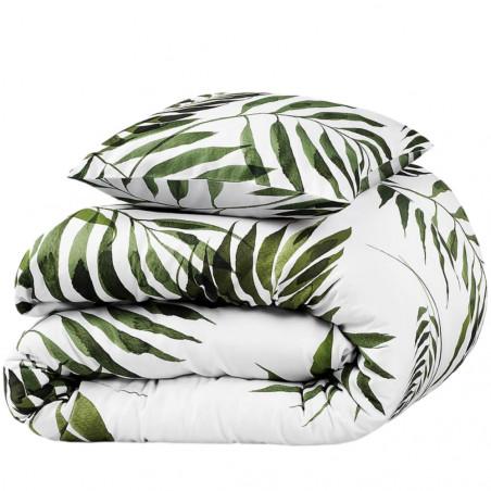 White Pocket Palm Trees Double Duvet Set 200 x 200 CM