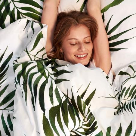 White Pocket Palm Trees King Size Duvet Set 220 CM