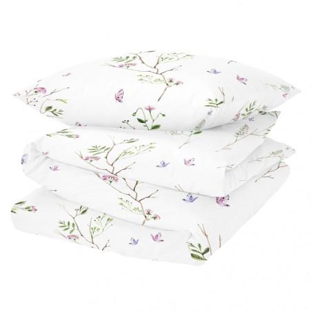 White Pocket Garden Double Duvet Set 200 CM
