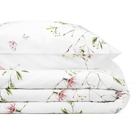 White Pocket Garden King Size Duvet Set 220 CM