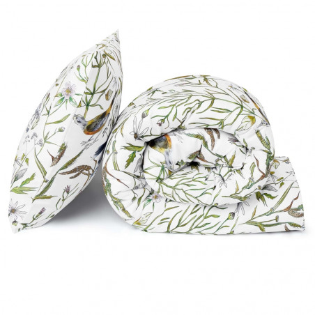 White Pocket Birds Double Duvet Set 200 CM