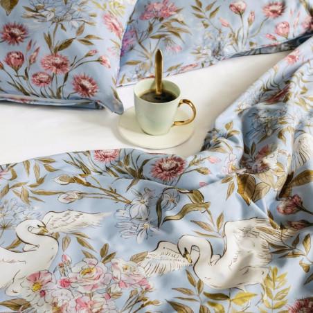 White Pocket Swans King Size Duvet Cover 220 CM