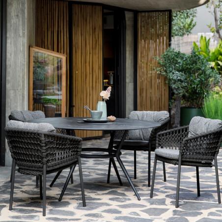 Cane-Line Joy Dining Table, Dia. 144cm | Teak Dia. 120cm