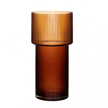 Hubsch Vase Glass - Amber