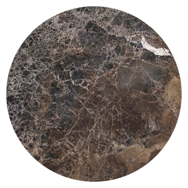 Dome Deco Geneva Console Table Marble Brown