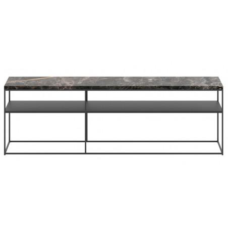 Dome Deco Geneva Console Table Black Marble