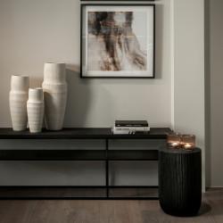 Dome Deco Geneva Console Table Black Oak