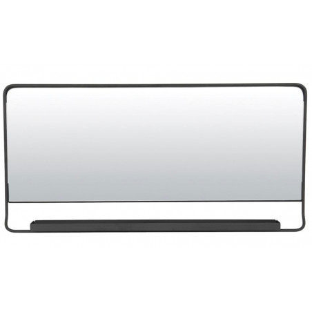 House Doctor Chic Mirror with Shelf Black Horizontal