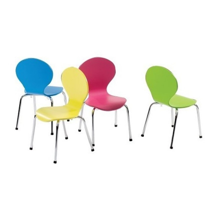 Kids Danish Chairs by Dan-Form - Blue