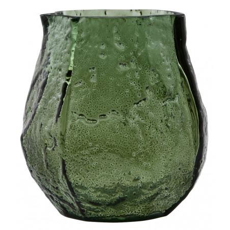 House Doctor Moun Glass Vase Dark Green