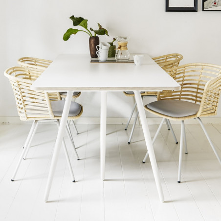 Cane-Line Spin Dining Chair Rattan Steel