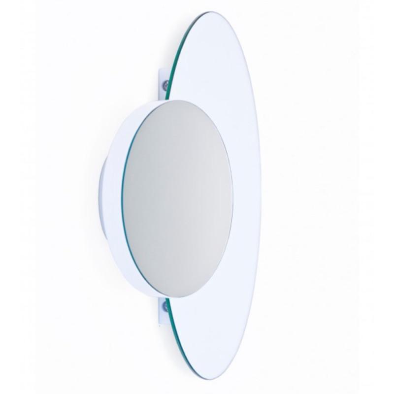 Wireworks Eclipse Wall Mirror - Gloss White