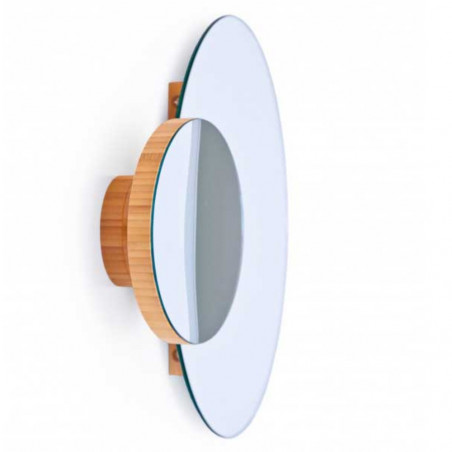 Wireworks Wall Mirror Eclipse Bamboo