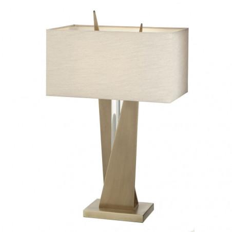 RV Astley Cabra Antique Finish Cognac Crystal Table Lamp