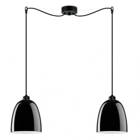 Sotto Luce Awa 2/S Pendant Light Glossy Black