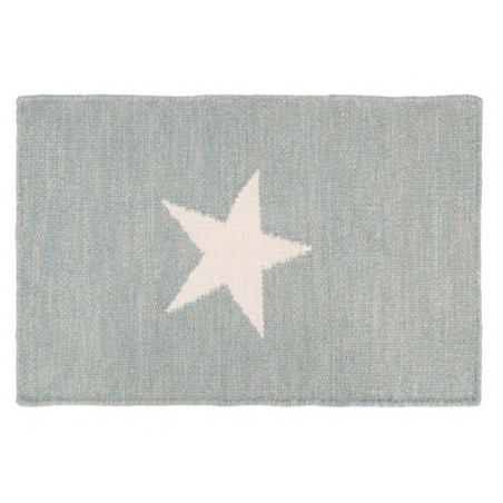 Grey and White Star Rug