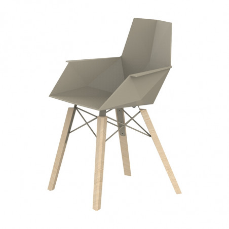 Vondom Faz Wood Dining Chair with Arms