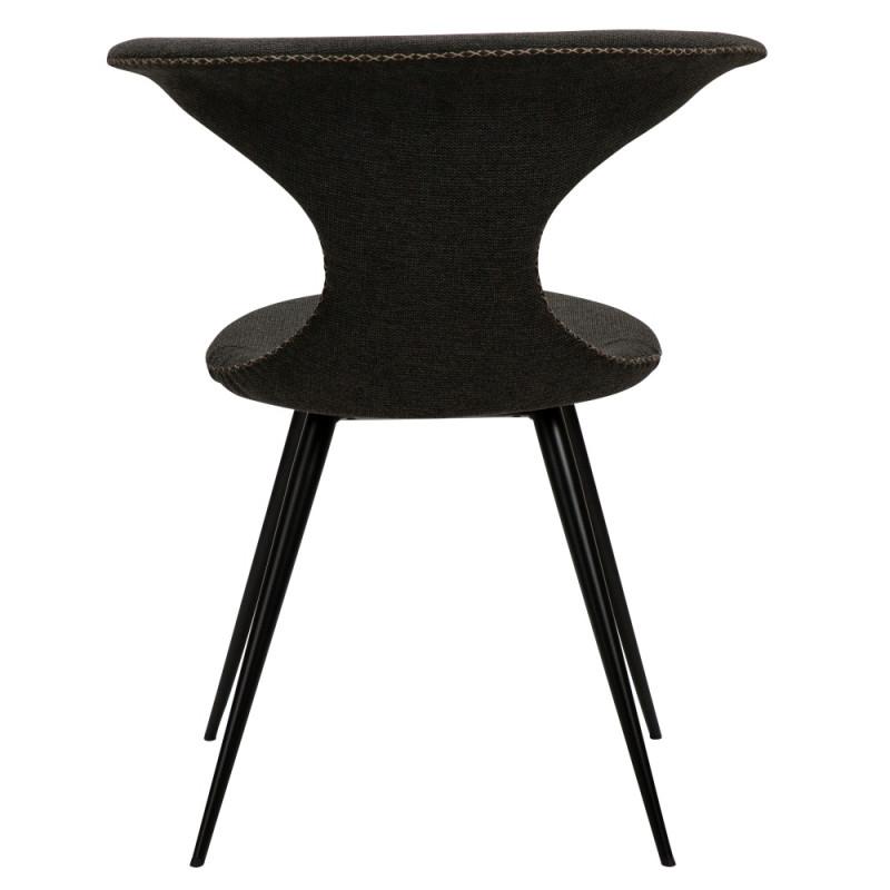 Dan-Form Flair Dining Chair Round Black Legs   Black Fabric