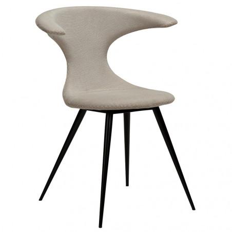Dan-Form Flair Dining Chair Round Black Legs | Desert Sand
