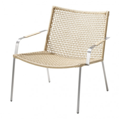 Cane-Line Straw Lounge Chair Round Weave Stackable