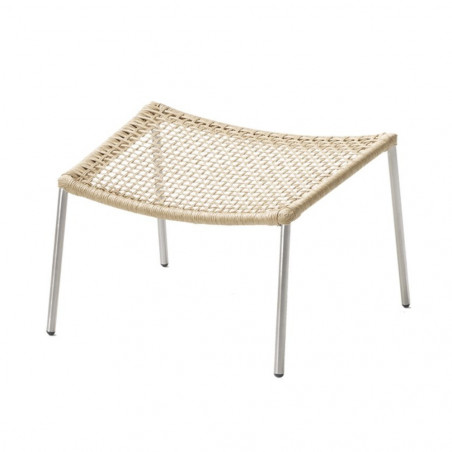 Cane-Line Straw Footstool Round Weave Stackable