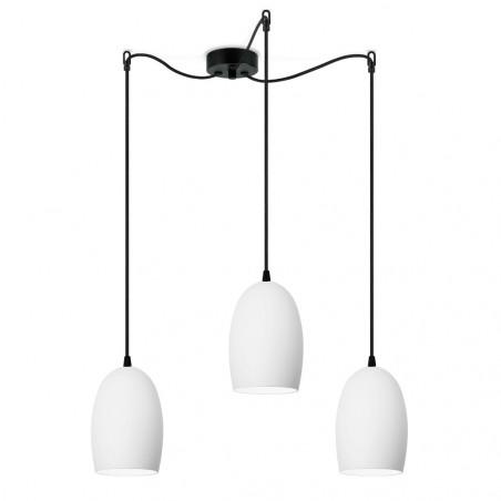 Sotto Luce Ume 3/S Pendant Light - Matte Opal |Black Black