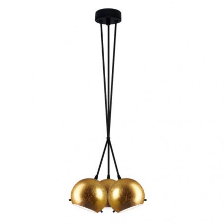 Sotto Luce Myoo B 3/S Pendant Light - Imitation Gold Leaves