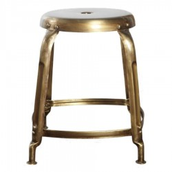 House Doctor Define Stool | Old Brass Finish
