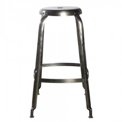 House Doctor Define Bar Stool in Silver Finish