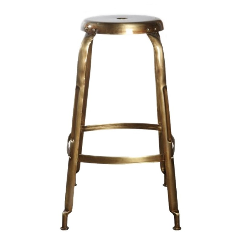 House Doctor Define Bar Stool | Brass Finish