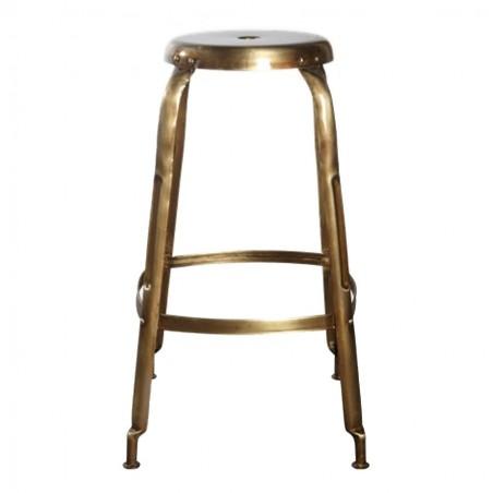 House Doctor Define Bar Stool | Brass Finish