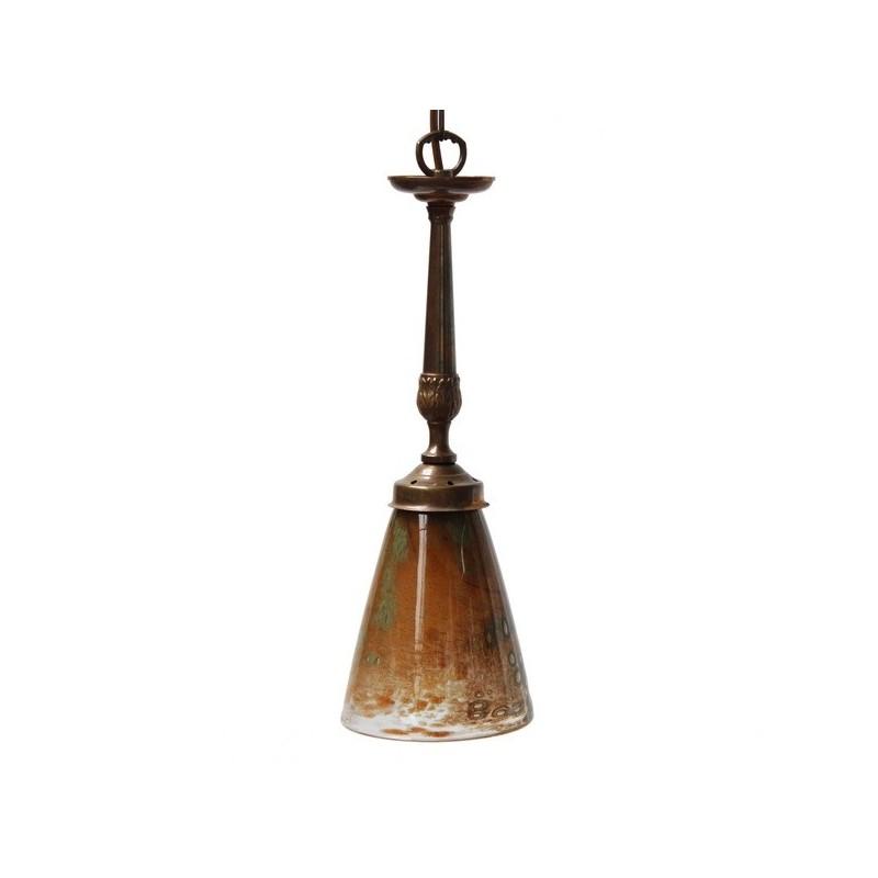 Mullan Lighting Sheena Antique Brass Pendant
