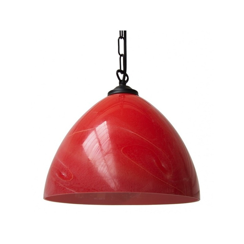 Belhaven Red Glass Pendant