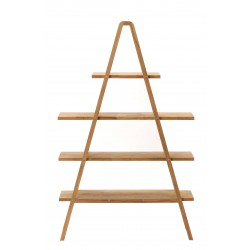 """A"" Shape Solid Wood Shelving Unit"