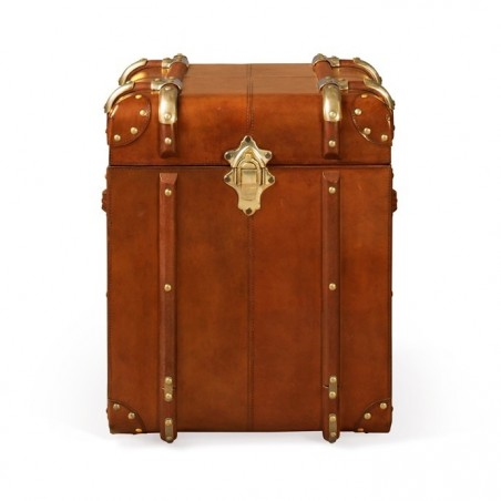 Small leather Side Trunk- Tan
