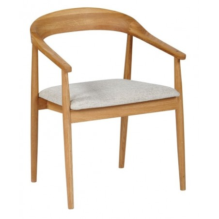 The Fifties Dining Chair with Arms - Oak