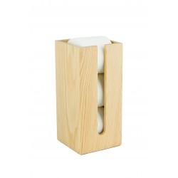 Wireworks Contemporary Oak Toilet Roll Holder Box Mezza