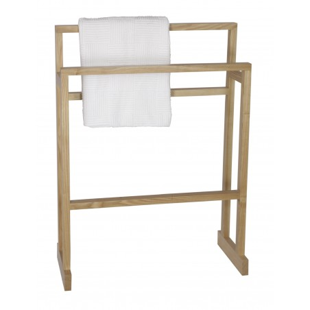 Wireworks Contemporary Oak Towel Rail Mezza