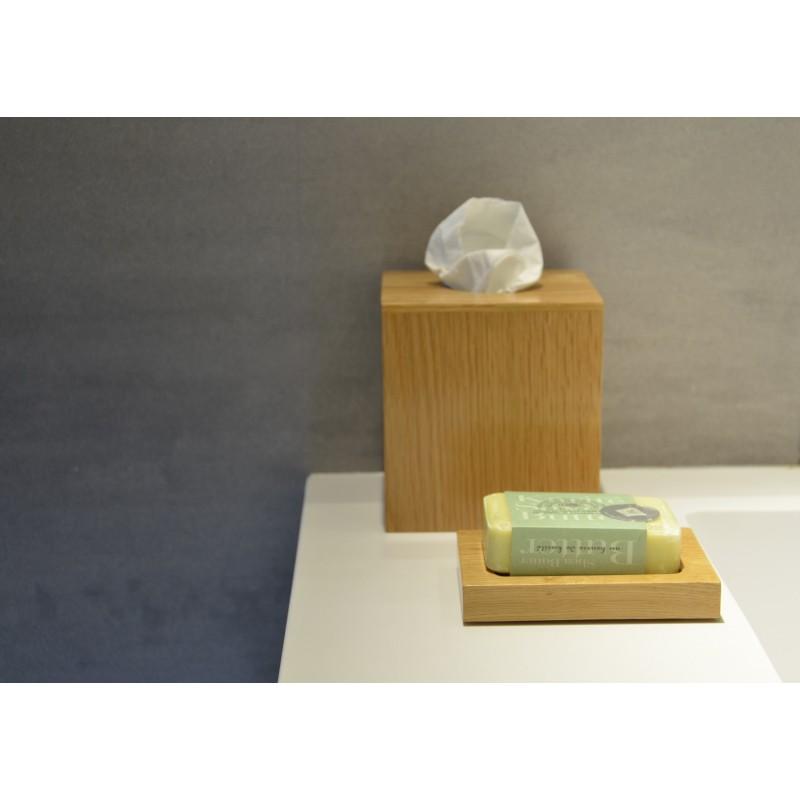 Wireworks Contemporary Oak Tissue Box Cube Mezza