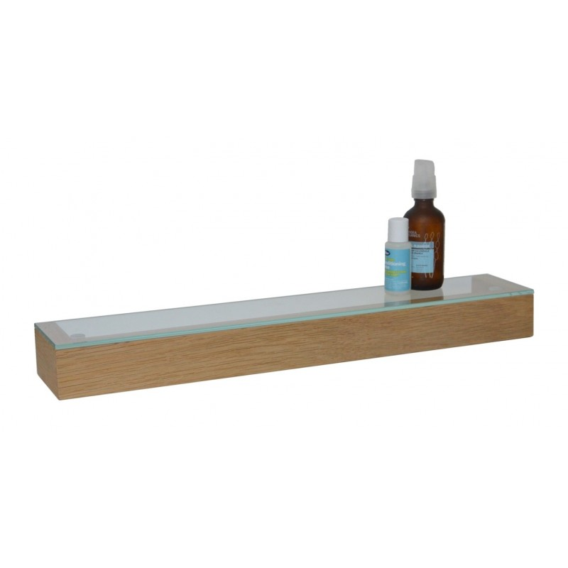 Wireworks Solid Oak Glass Shelf 55cm